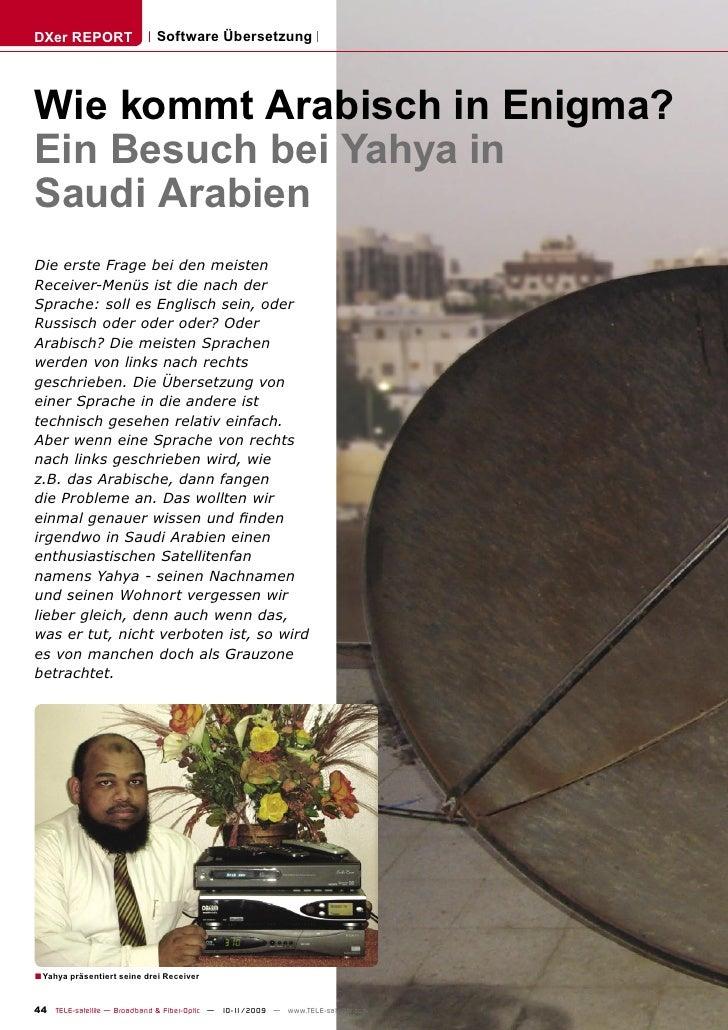 DXer REPORT                  Software Übersetzung     Wie kommt Arabisch in Enigma? Ein Besuch bei Yahya in Saudi Arabien ...