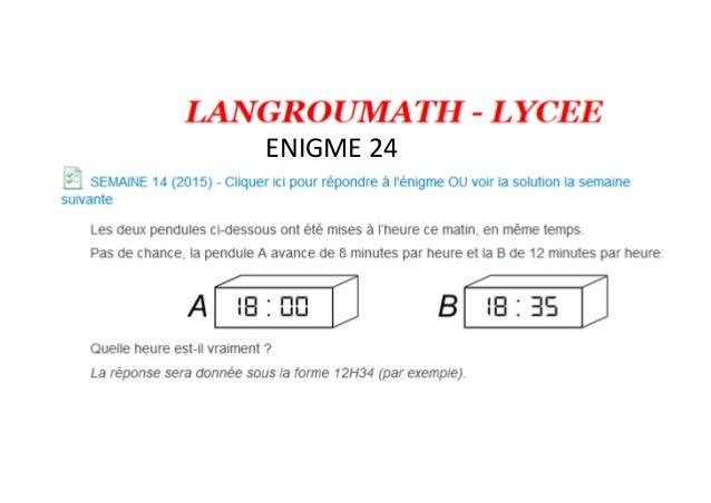 ENIGME 24