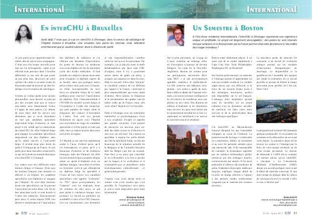 30 N° 08 - Janvier 2011 N° 08 - Janvier 2011 31 International International En interCHU à Bruxelles Je suis partie pour ra...