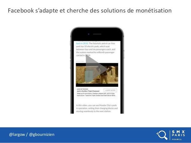 Facebook s'adapte et cherche des solutions de monétisation @largow / @gbournizien