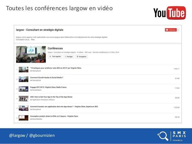 @largow / @gbournizien Toutes les conférences largow en vidéo