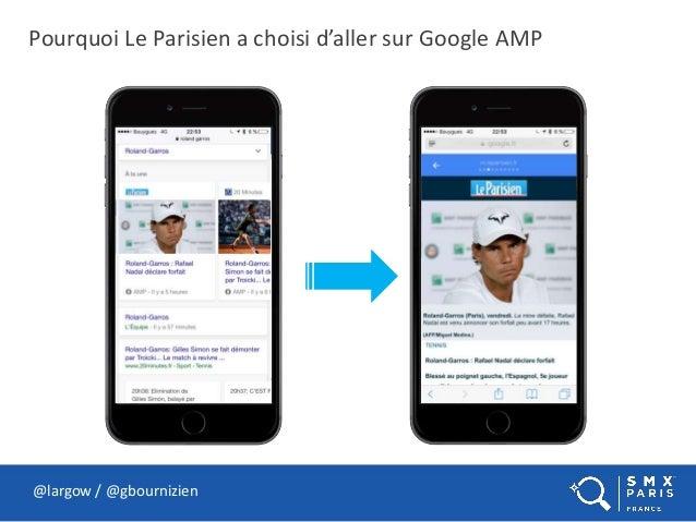 Pourquoi Le Parisien a choisi d'aller sur Google AMP @largow / @gbournizien