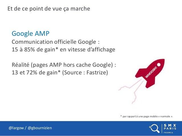 Et de ce point de vue ça marche @largow / @gbournizien Google AMP Communication officielle Google : 15 à 85% de gain* en v...
