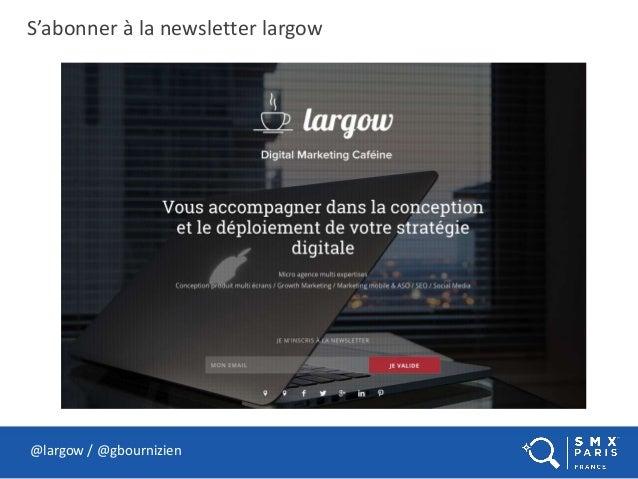 S'abonner à la newsletter largow @largow / @gbournizien