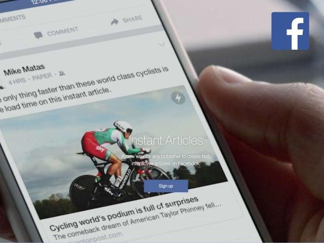 Nouveaux enjeux de distribution du contenu : Facebook Instant Articles, Google AMP,…