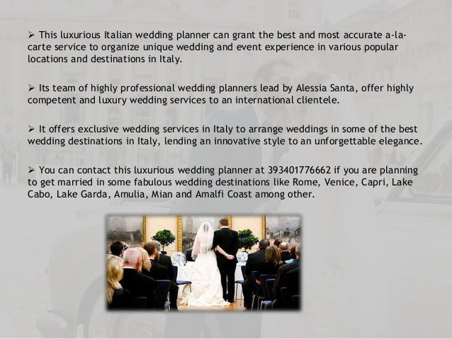 Enjoy a Fabulous Luxury Wedding Experience in Italy with White Emotion