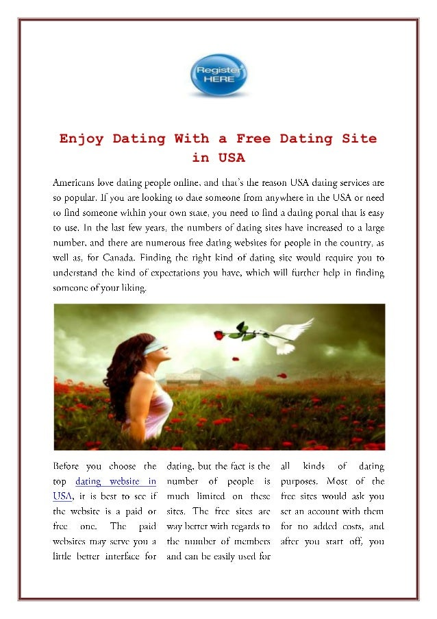 Free online dating site in usa