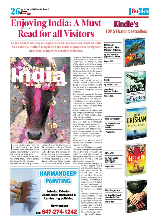 Enjoying India - A Must Read for all Visitors