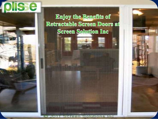 Enjoy the benefits of retractable screen doors at screen for Retractable screen solutions