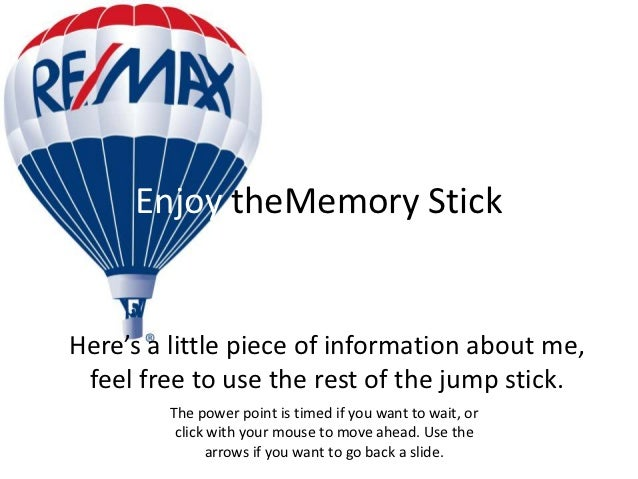 Enjoy theMemory StickHere's a little piece of information about me, feel free to use the rest of the jump stick.         T...