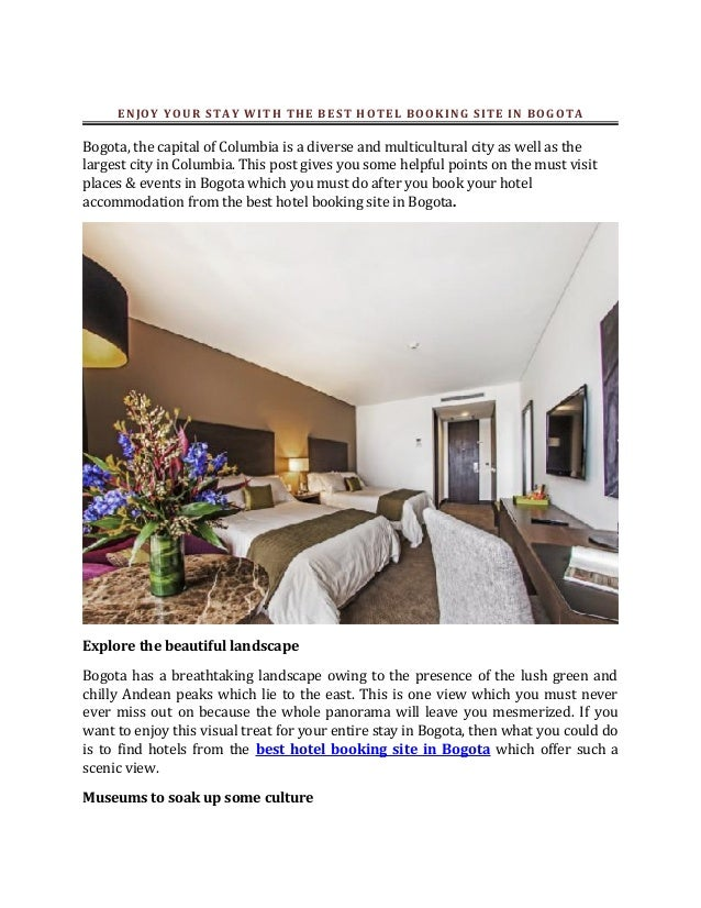 Enjoy your stay with the best hotel booking site in bogota for Ideal hotel design booking