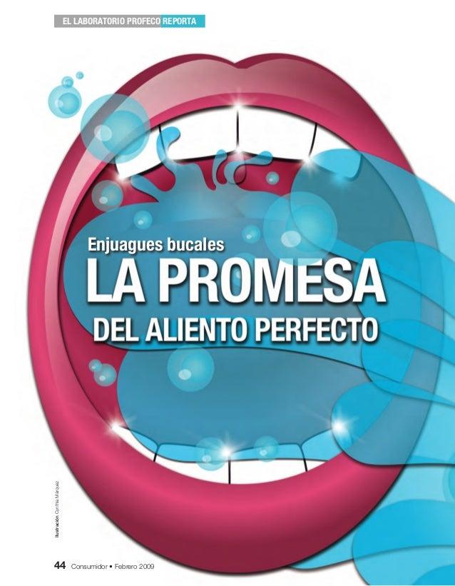 44 Consumidor • Febrero 2009EL LABORATORIO PROFECO REPORTAEnjuagues bucales44 Consumidor • Febrero 2009IlustraciónCynthiaM...