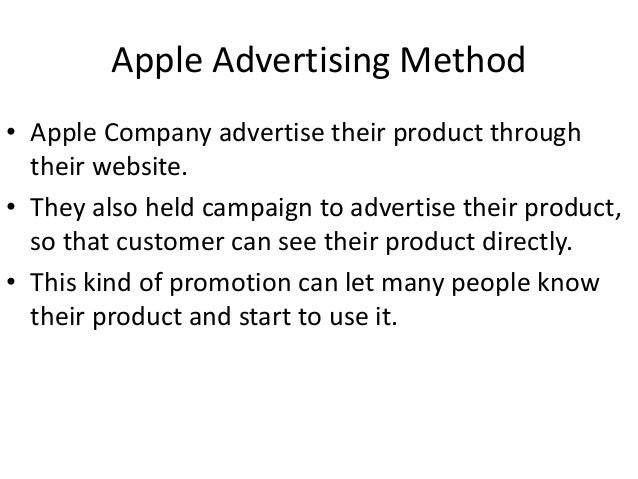 the marketing strategies of apple Apple's marketing strategy is also just as smart as its product line it makes use of  both conventional and unconventional techniques to promote.