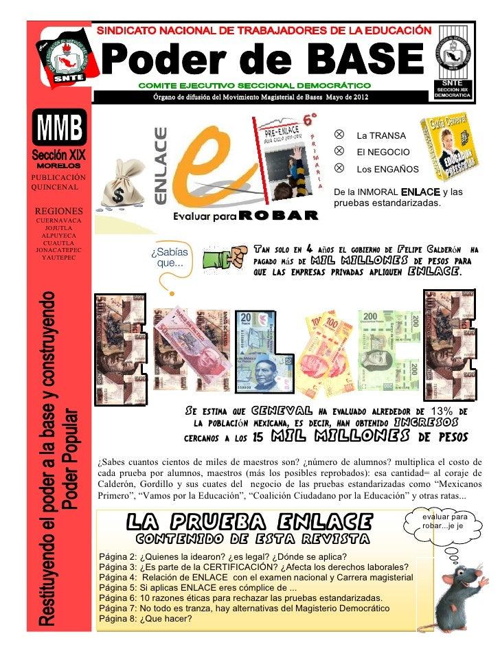 Órgano de difusión del Movimiento Magisterial de Bases Mayo de 2012                                                       ...