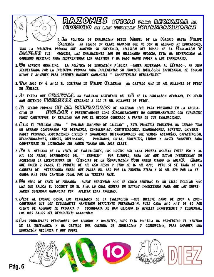 RAZONES                   ÉTICAS         PARARECHAZAR EL                           NEGOCIO          DE LAS PRUEBAS        ...