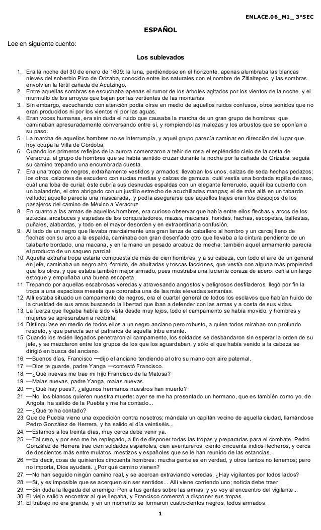 ENLACE.06_M1_ 3°SEC                                                   ESPAÑOLLee en siguiente cuento:                     ...