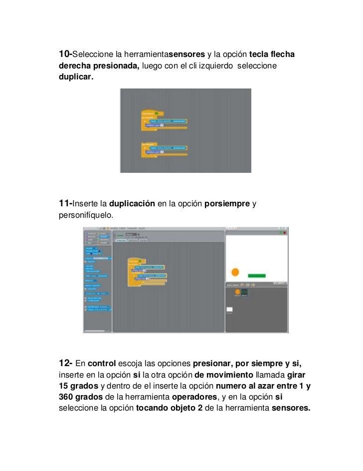 10-Seleccione la herramientasensores y la opción tecla flechaderecha presionada, luego con el cli izquierdo seleccionedupl...