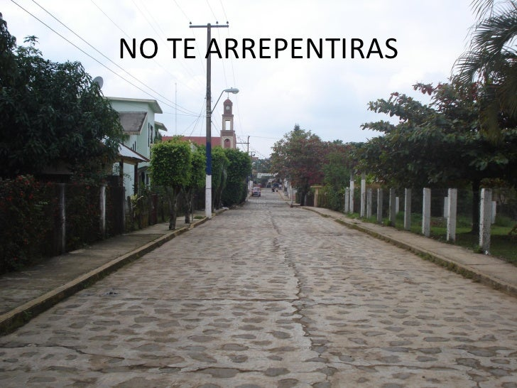 NO TE ARREPENTIRAS