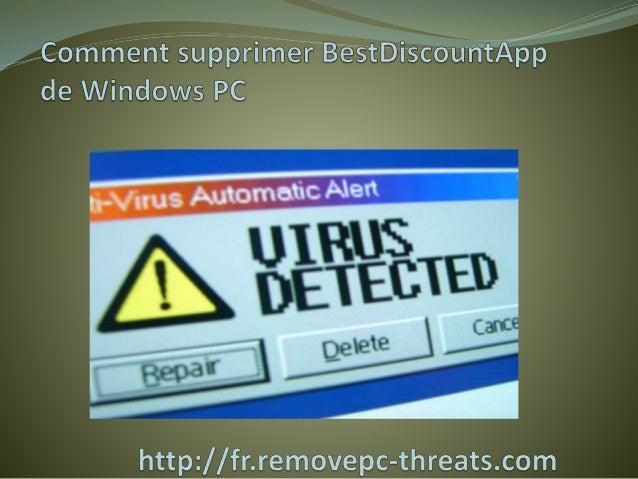 BestDiscountApp est une menace très destructeur de malware qui secrètement est installée sur le système Windows et cible t...