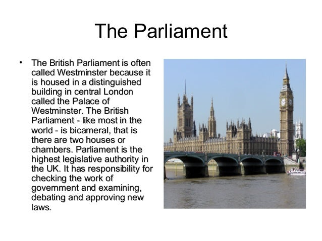 a history of parliamentary power in england Parliamentary sovereignty in the united kingdom the parliament of england is that supreme and absolute power history and policy (2015.