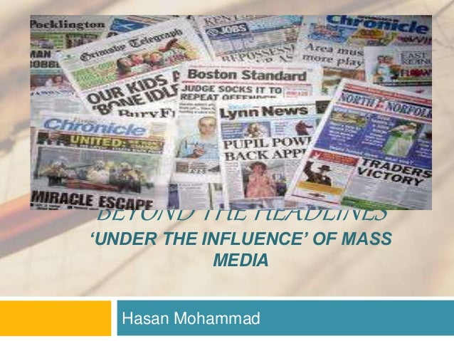 understanding the influence of mass media in sports Sport and the media our knowledge and understanding participation in sports covered by the media is of the programme will have an influence on what.