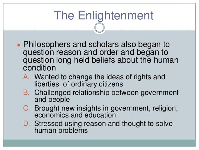 the influence of the enlightenment on the french revolution Free essay: name subject professor date enlightenment influence on political, social and cultural policies of french revolutionary period the age of.