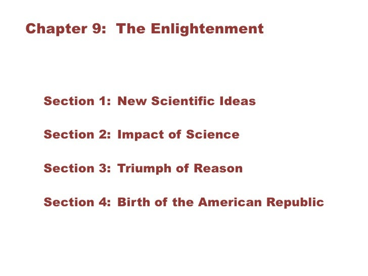 a comparison of enlightenments and scientific revolutions influence on european society The enlightenment included a range of  science during the enlightenment was dominated by scientific  began to expose european society to.