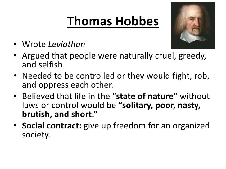 analyzing theories of the state of nature in the leviathan by thomas hobbes Thomas hobbes the ideas of american democratic citizenship  hobbes' greatest work, leviathan (1651) is a  what is life like in the state of nature where does .