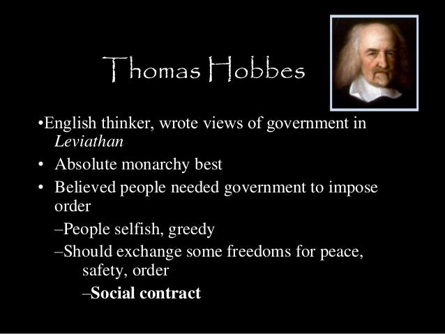 beliefs of thomas hobbes How did baron de montesquieu's beliefs differ from those of thomas hobbes amontesquieu believed that governments should have absolute power, while hobbes believed.