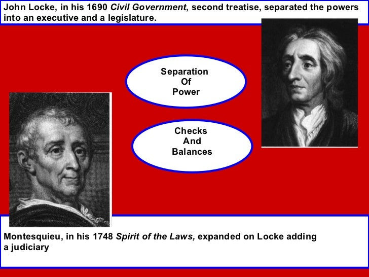 comparing john locke and charles de montesquieu Charles de montesquieu a french enlightenment thinker who expanded on john locke's beliefs comparing various governments throughout history.