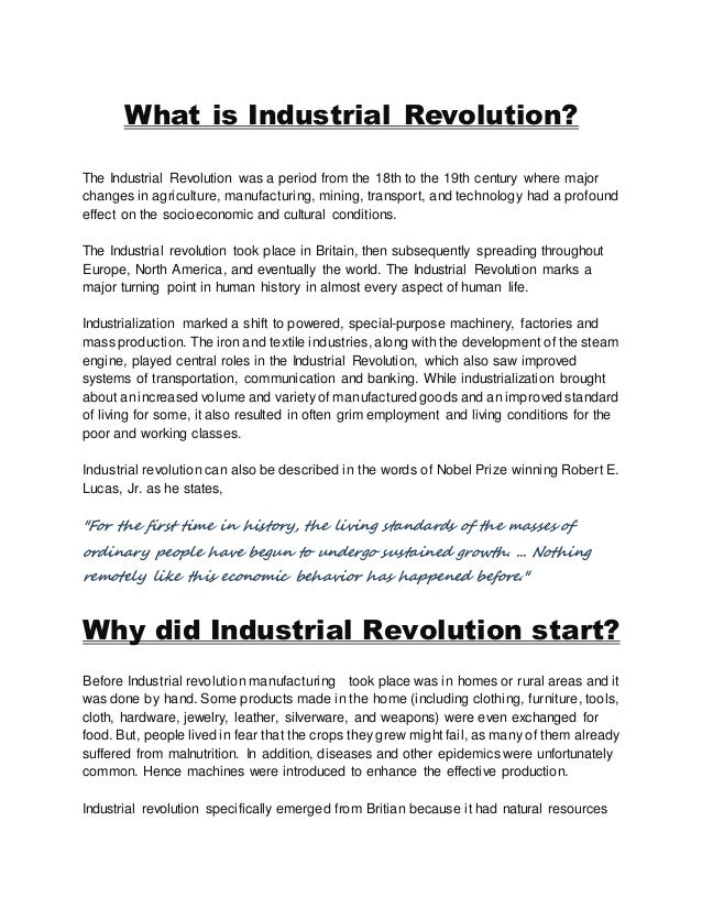 industrial revolution in north america