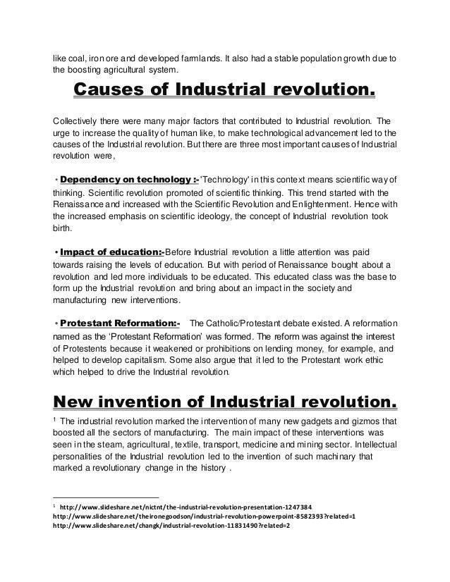 Industrial Revolution.