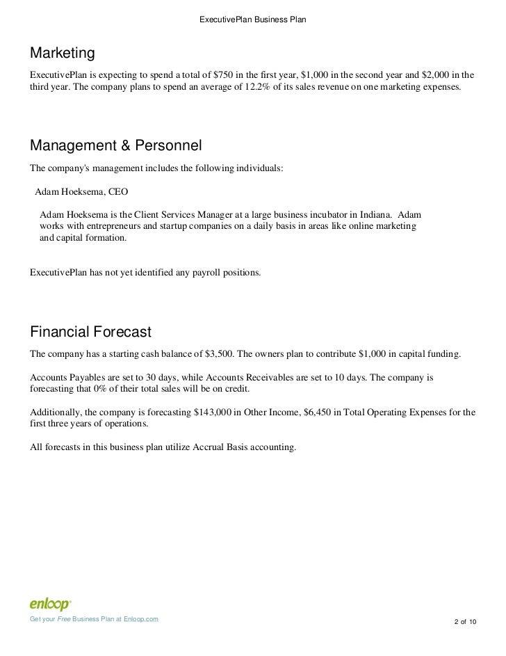 Enloop business plan