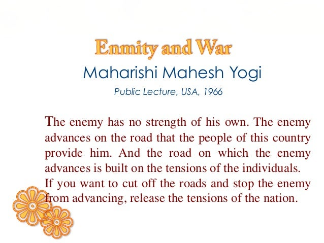 Enmity and War