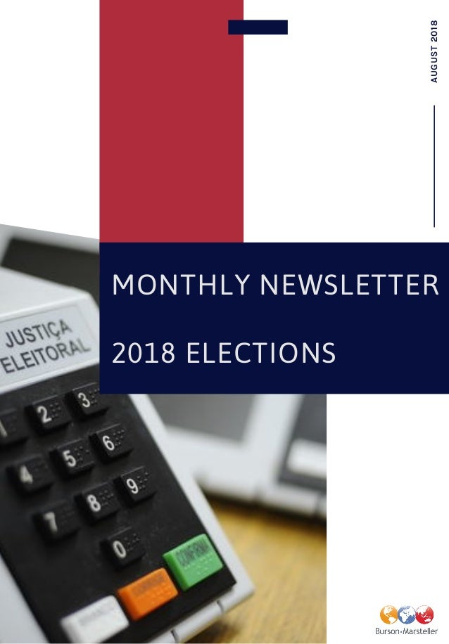 MONTHLY NEWSLETTER 2018 ELECTIONS AUGUST2018