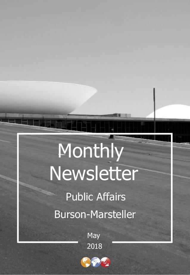 Monthly Newsletter Burson-Marsteller May Public Affairs 2018