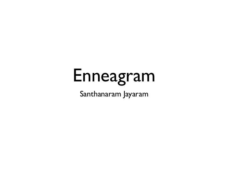 EnneagramSanthanaram Jayaram