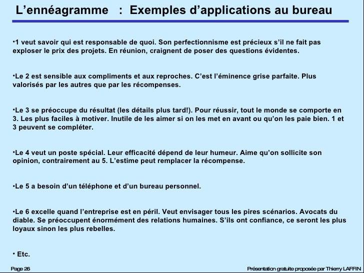 :  Exemples d'applications au bureau <ul><li>1 veut savoir qui est responsable de quoi. Son perfectionnisme est précieux s...