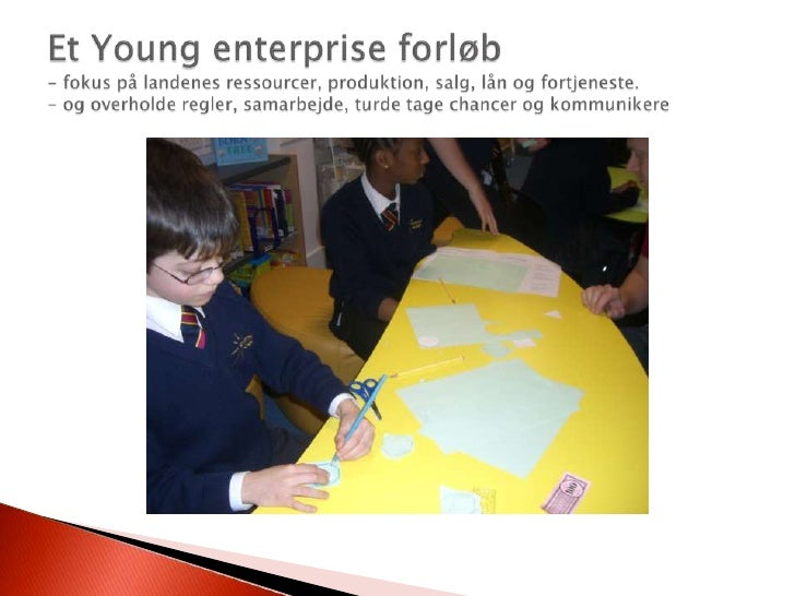 Et Young enterprise forløb- fokus på landenes ressourcer, produktion, salg, lån og fortjeneste.- og overholde regler, sama...