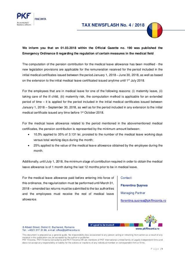 PKF Finconta Tax Newsflash 4/2018