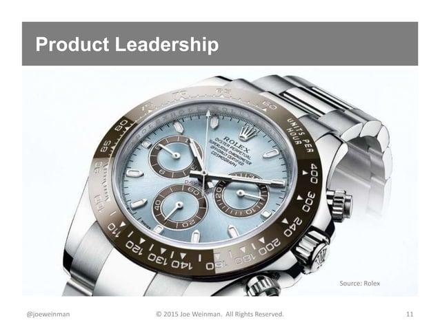 Product Leadership @joeweinman © 2015 Joe Weinman. All Rights Reserved. 11 Source: Rolex