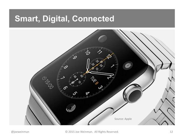 Smart, Digital, Connected @joeweinman © 2015 Joe Weinman. All Rights Reserved. 12 Source: Apple
