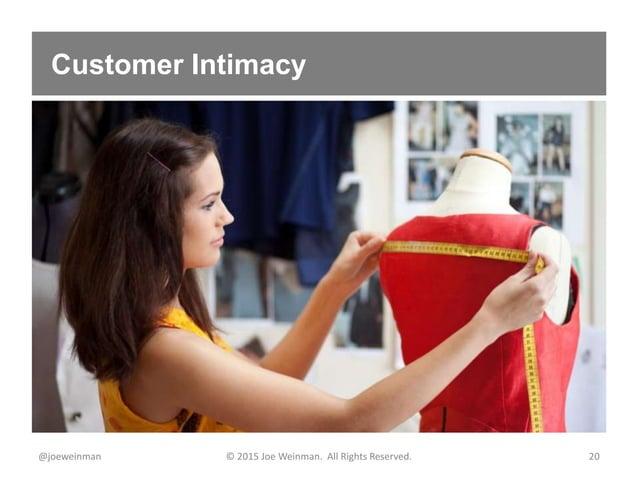 Customer Intimacy @joeweinman © 2015 Joe Weinman. All Rights Reserved. 20
