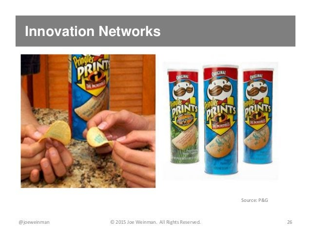 Innovation Networks @joeweinman © 2015 Joe Weinman. All Rights Reserved. 26 Source: P&G