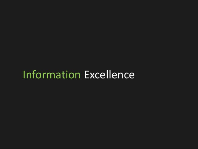 Information Excellence