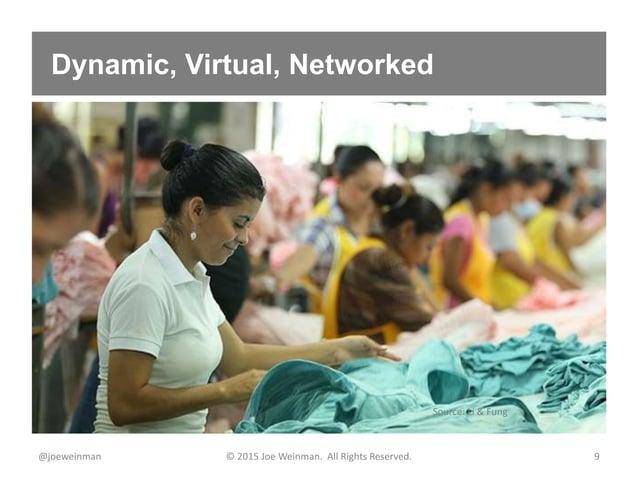 Dynamic, Virtual, Networked @joeweinman © 2015 Joe Weinman. All Rights Reserved. 9 Source: Li & Fung