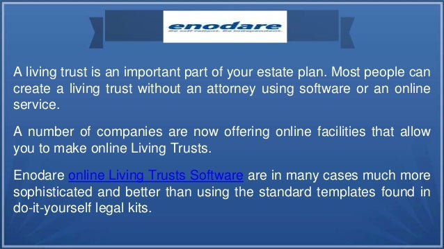 Enodare make your own living trust easily enodare make your own living trust easily 2 solutioingenieria Gallery