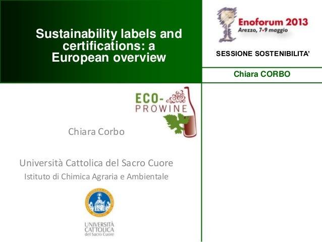 Chiara CorboUniversità Cattolica del Sacro CuoreIstituto di Chimica Agraria e AmbientaleChiara CORBOSESSIONE SOSTENIBILITA...
