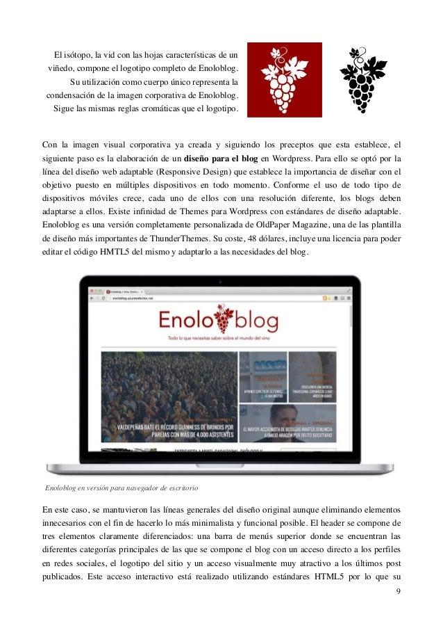 Enoloblog - Trabajo Fin de Grado - Universidad del País Vasco