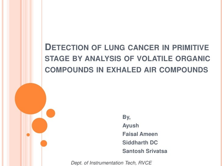 DETECTION OF LUNG CANCER IN PRIMITIVESTAGE BY ANALYSIS OF VOLATILE ORGANICCOMPOUNDS IN EXHALED AIR COMPOUNDS              ...